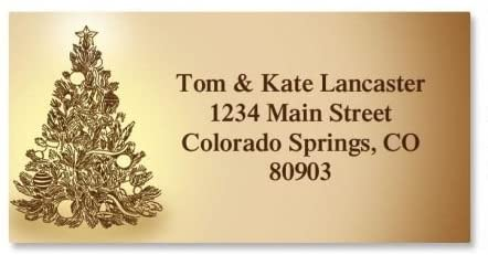 Tinted Tree Christmas Return Address Labels- Set of 144, Large Self-Adhesive, Flat-Sheet Labels, by Colorful Images