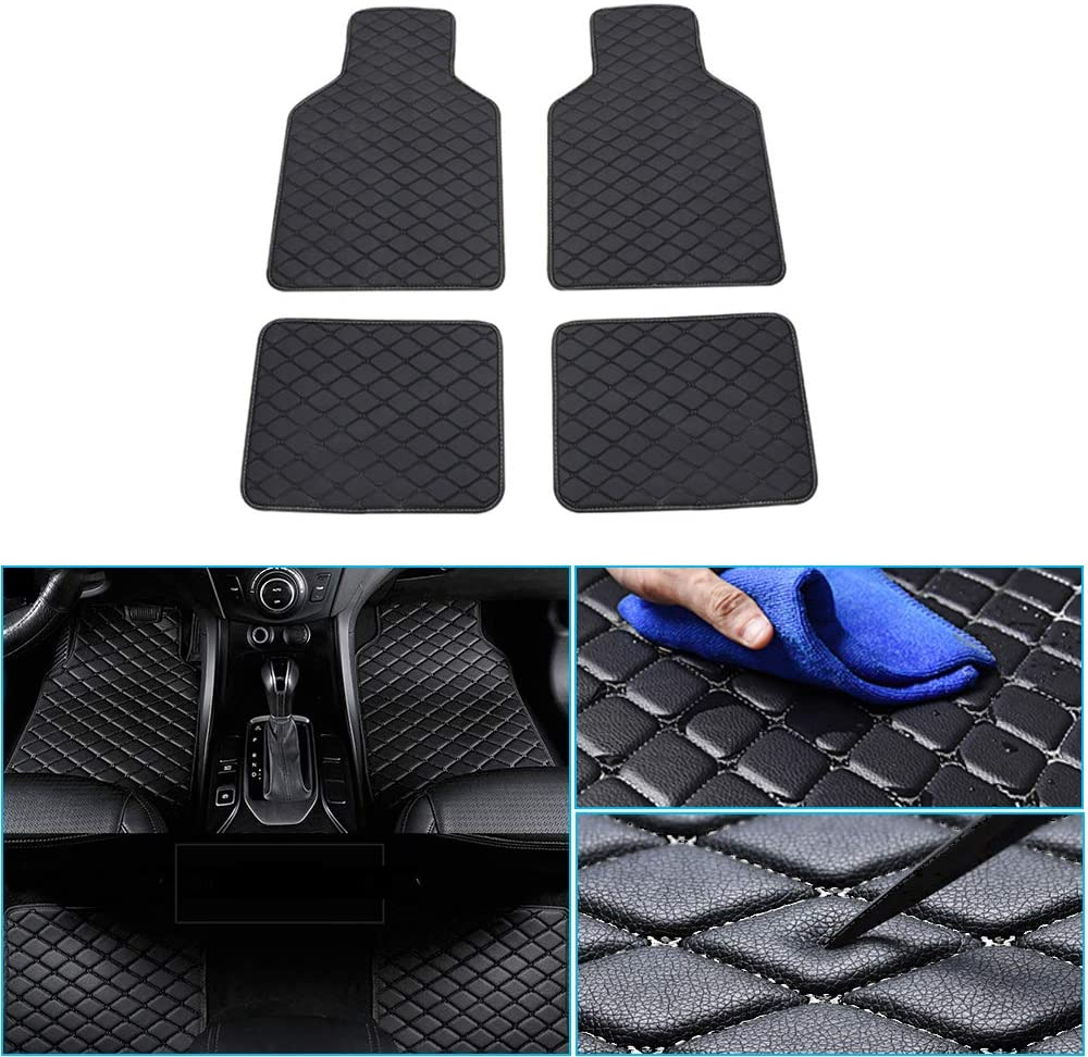 jialaiwo Car Floor Mats fit for Nissan Rogue Murano Paladin D22 Patrol All Weather Protection Auto Floor Liners Carpet Set/4Piece (Black)