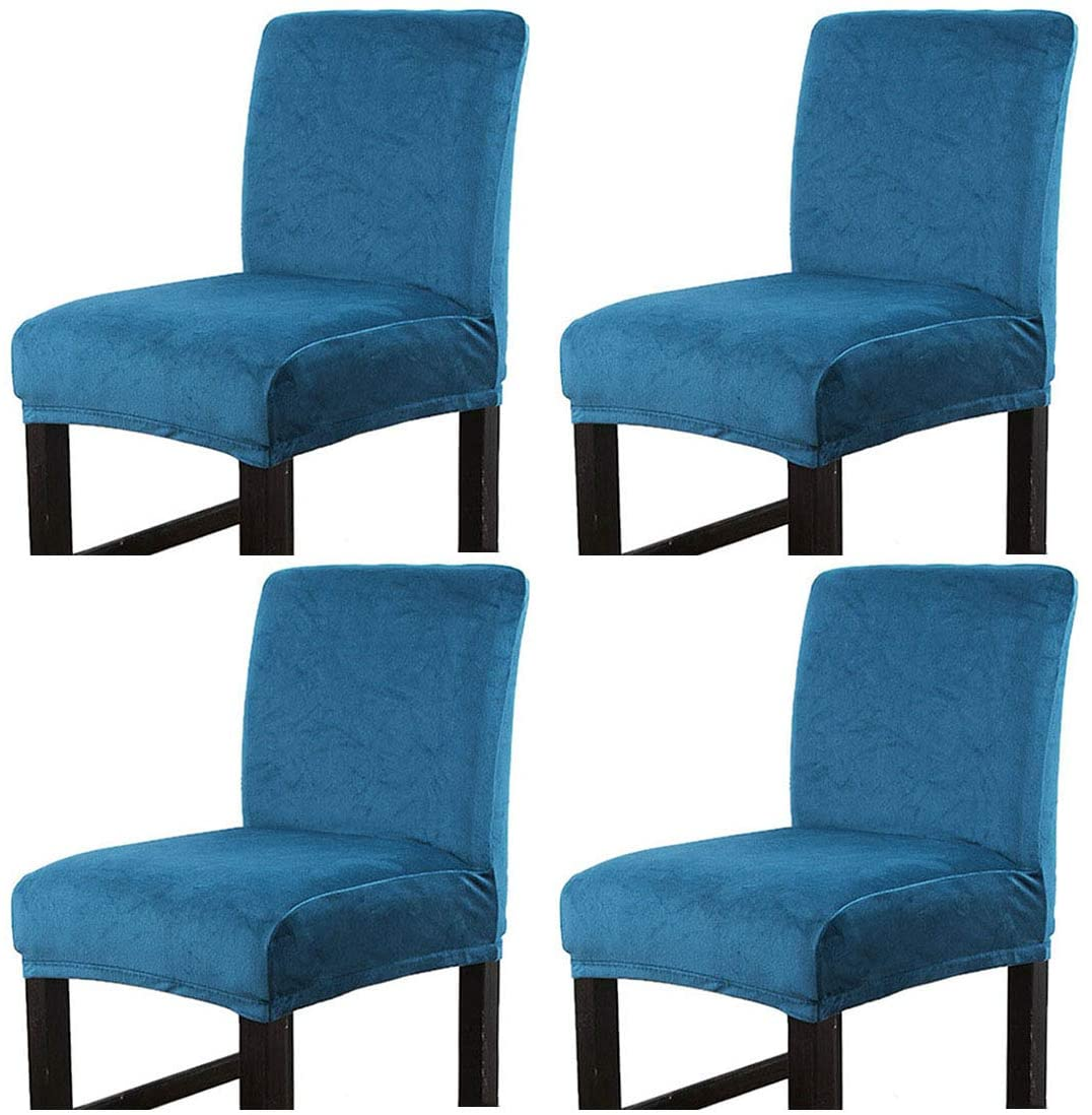 Dingtuo 2/4PCS Chair Cover Counter Height Bar Stool Slipcovers High Seat Chair Protectors #4