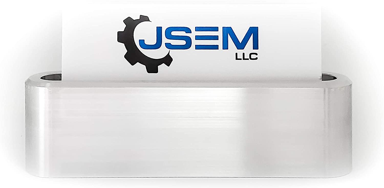 JSEM Aluminum Business Card Holder Desk Display Stand Holder for Desktop Name Cards Office Organizer for Desk