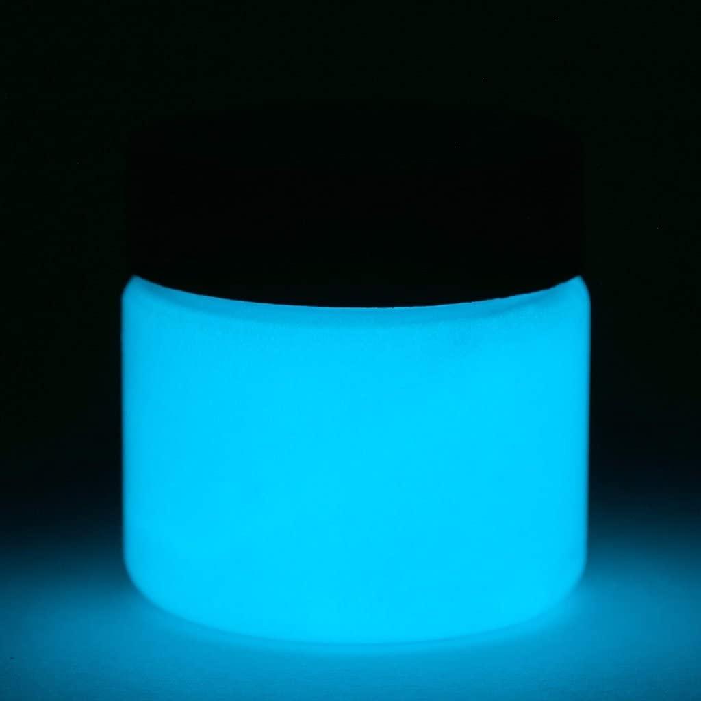 Fluorescent Glow in The Dark Paint - Premium Artist's Acrylic - 4 Ounces (Fluorescent Blue) - 5+ Colors Available