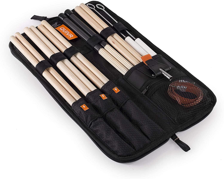 Gruv Gear QUIVR Drumstick Bag - Black (2-pack) Value Bundle
