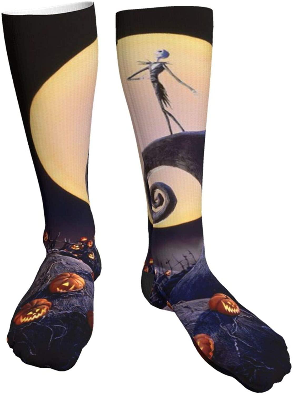 Women Novelty Dress Socks Black and Yellow Trombone for Run Hiking Travel Casual Crazy Crew Socks
