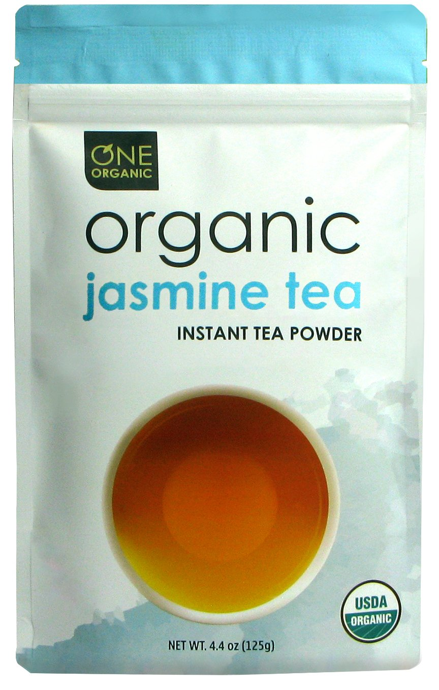 ONE ORGANIC Instant Tea Powder (Jasmine) – 4.4 oz. – 125 Servings – USDA Certified Organic – 100% Pure Tea - Instant Hot or Iced Tea – Unsweetened