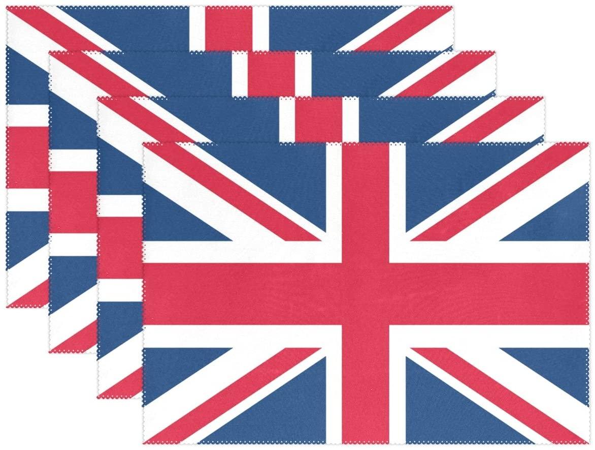 WOZO Union Jack Placemat Table Mat, British Flag 12