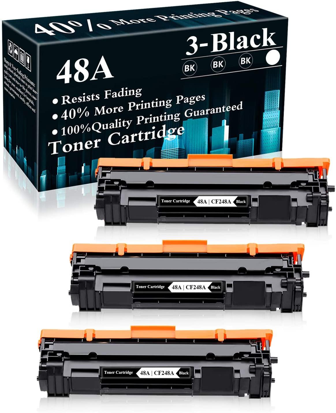 3 Pack 48A | CF248A Black Compatible Toner Cartridge Replacement for HP Laserjet Pro M15a M15w MFP M28a MFP M28w MFP M29w MFP M30w MFP M31w Printer,Sold by TopInk