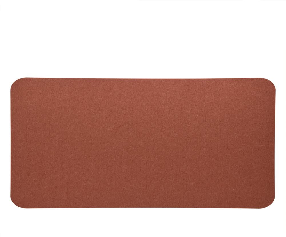 Office Desk Mouse Pad, 4 Color 68x33cm Felts Table Mouse Pad Office Desk Laptop Mat Anti-Static Computer PC Pads for Office Home Computer(Brown)
