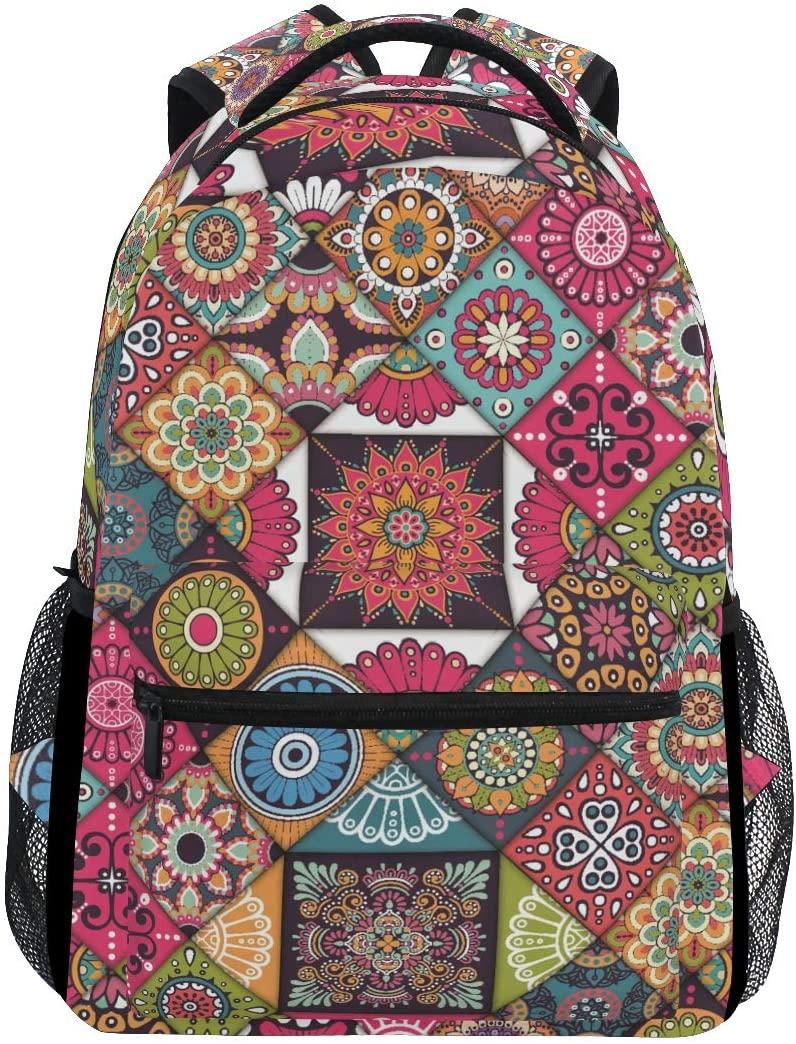 ALAZA Ethnic Boho Style Large Backpack Personalized Laptop iPad Tablet Travel School Bag with Multiple Pockets