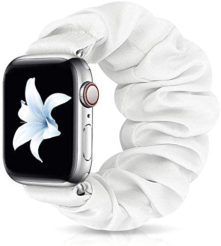 ShuYo Scrunchie Elastic Watch Band Wrist Bracelet for Apple Watch Band 38mm 40mm/42mm 44mm, Soft Elastic Wristbands Replacement Band Strap for iWatch Series SE/6/5/4/3/2/1 Women Girls (38mm/40mm)