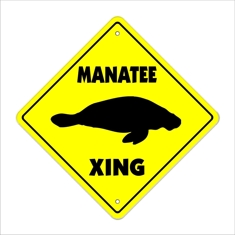 Manatee Crossing Sign Zone Xing   Indoor/Outdoor   12