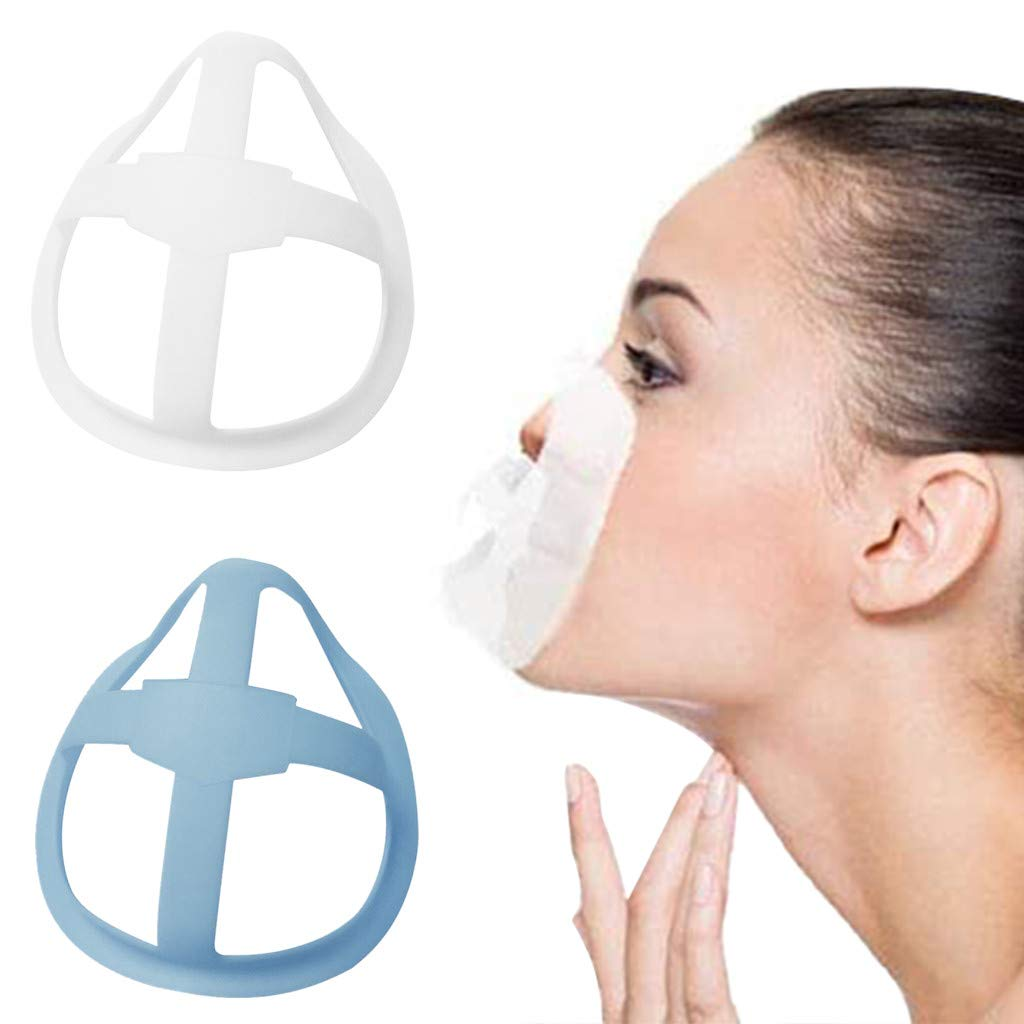 3D_Mask_Bracket Can be reused to increase Breathing_Space,Cool_Mask_Bracket, Inner Support Frame Mouth and Nose Protection_Lipstick, 3D Support Non-stick Lipstick
