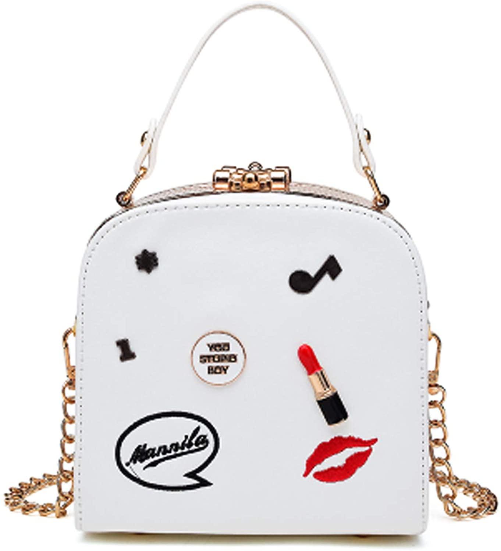 Lanpet Women Handbag Chain Strap Shoulder Bag Unique Lipstick Design Cross-body Bag Satchel Tote Box