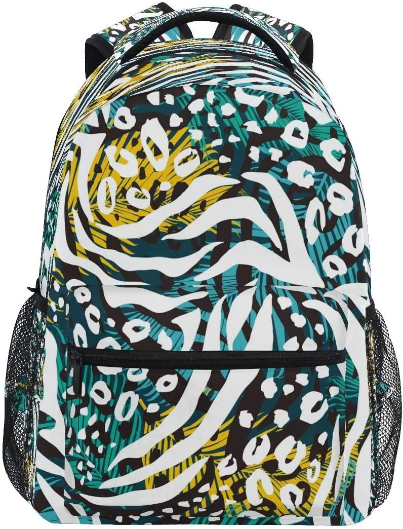 Ombra Backpack Animal Zebra Tiger Leopard Print School Shoulder Bag Large Waterproof Durable Bookbag Laptop Daypack for Students Kids Teens Girls Boys Elementary