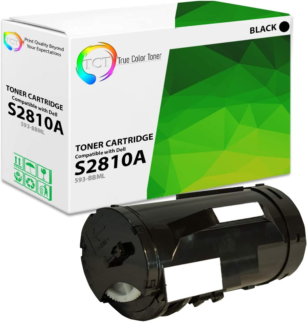 TCT Premium Compatible Toner Cartridge Replacement for Dell 593-BBML Black Works with Dell S2810DN Printers (3,000 Pages)