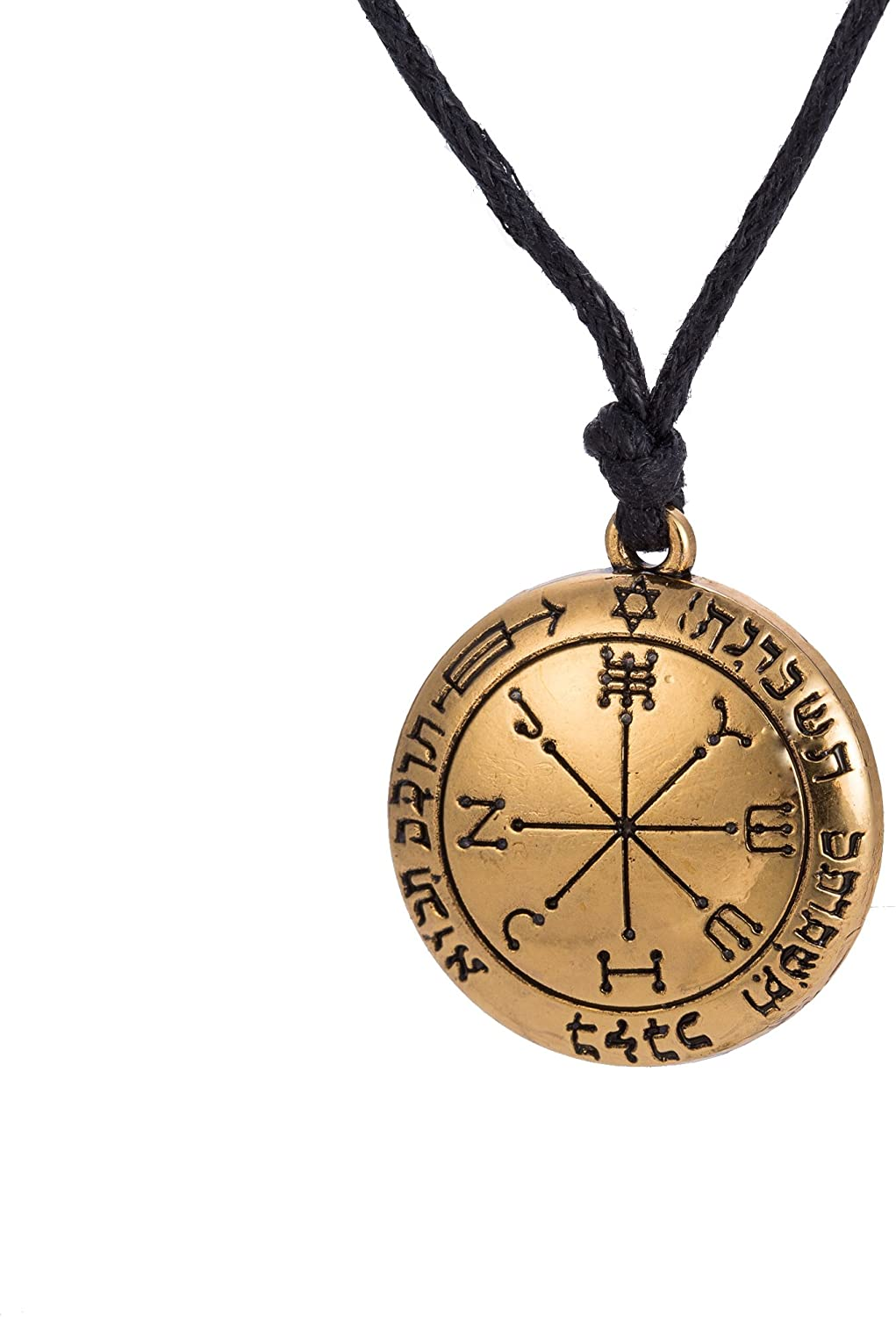 LIKGREAT Solomon The Sixth Pentacle of Mars Pendant Necklace Talisman Amulet Vintage Jewelry