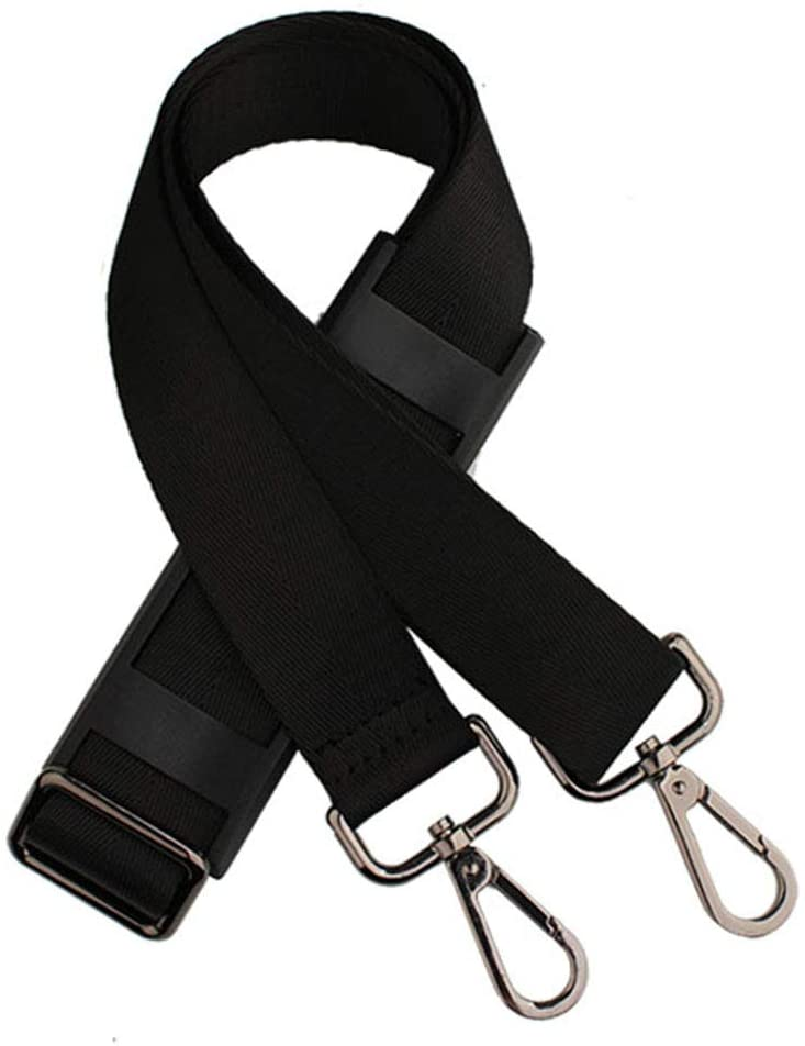 Padded Adjustable Shoulder Bag Straps Replacement for Bags with D-ring (3.8cm/Gun-Metal-Hook)