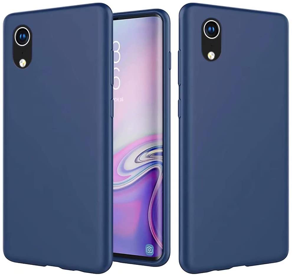 NiaCoCo Compatible with Samsung Galaxy A70 Case Ultra Thin Anti Shockproof Cover PC Silicone Scratch Protective Phone Case for Samsung Galaxy A70 Phone Shell-Blue
