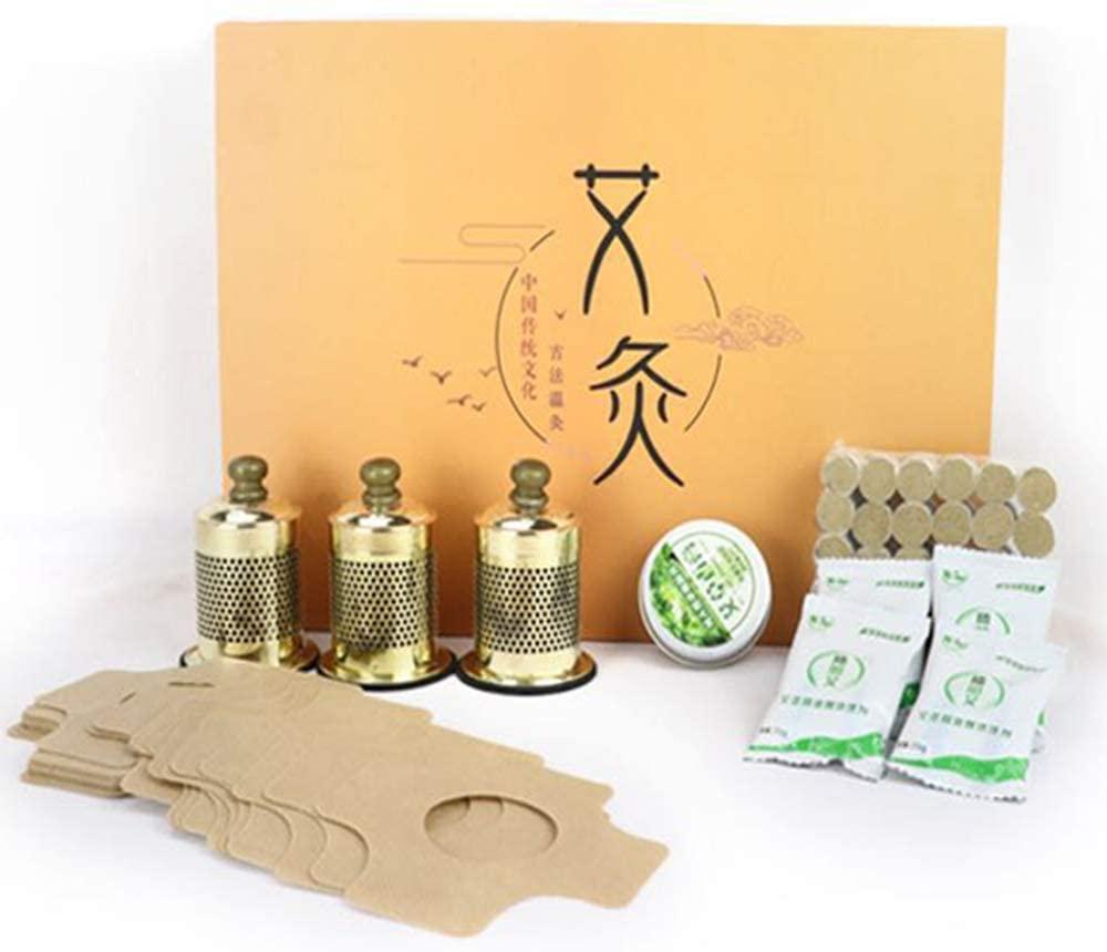 艾灸器盒Moxa Stick Burner Smokeless Moxa Box Moxibustion Heat Therapy Set Health Care Tool Gift Package(Magnetic Suspension Moxa Box Set)