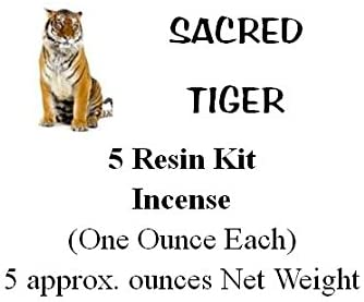Sacred Tiger Incense Sampler Kit One Ounce Each with 3 Rolls of Charcoal and Shipped in a Nice Storage Box