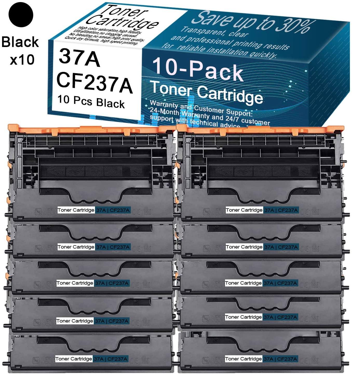 CuToner Compatible Toner Cartridges Replacement 10-Pack Black 37A   CF237A for HP LaserJet Enterprise M607n,M607dn,M608n,M609dn,M609x,M633z,M631 Series,M632 Series,M633 Series Printers Toner Cartridge