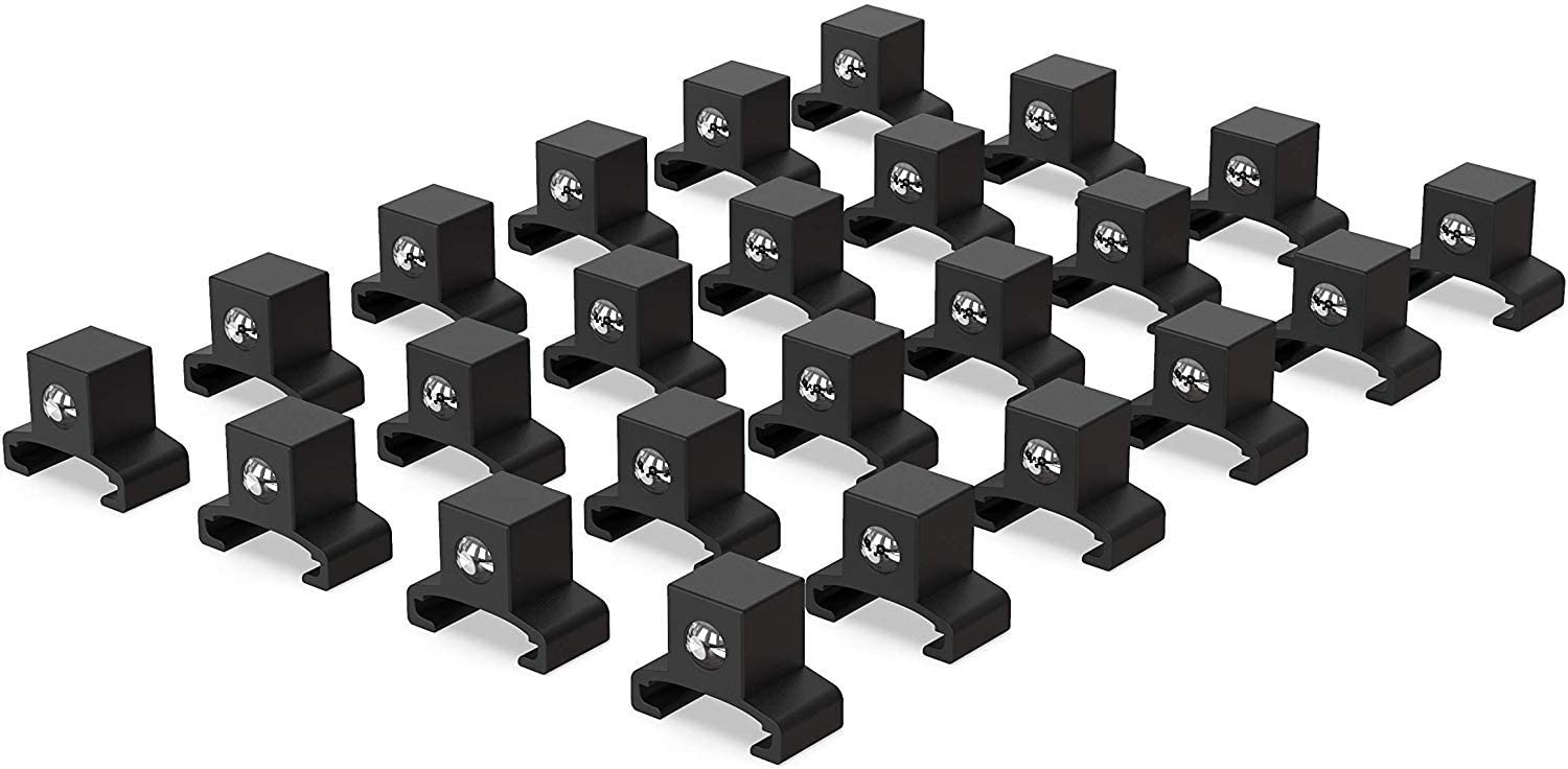 Black Spring Loaded Ball Bearing Socket Clips for Use with Olsa Socket Holders | 24-Pack (1/2-inch) | by Olsa Tools