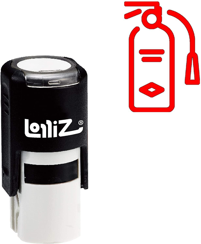 LolliZ Modern Symbol Series - Extinguisher Self-Inking Rubber Stamp