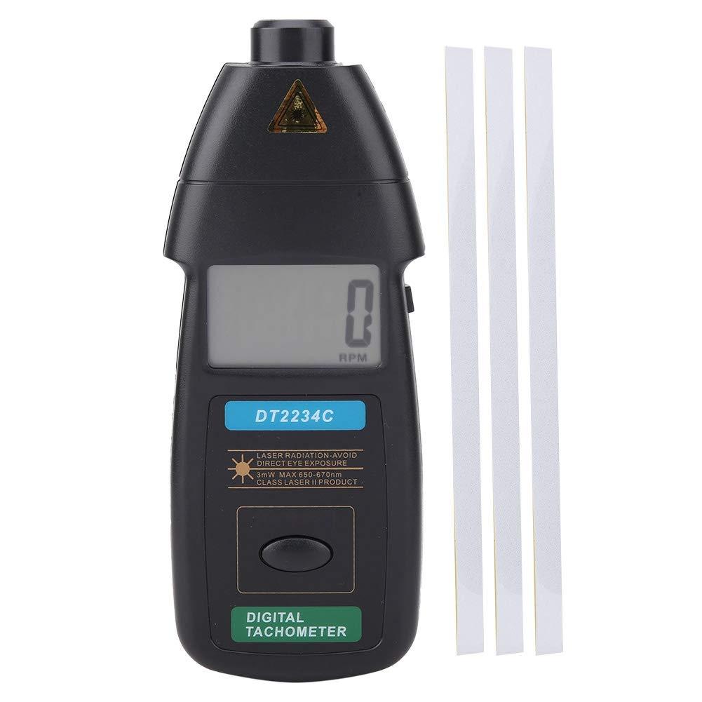 Tachometer, DT2234C Handheld Digital Laser Tachometer 2.5-99999RPM Non-Contact Speed Meter Gauge