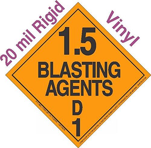 GC Labels-R15Dc, Explosive Class 1.5D 20mil Rigid Vinyl DOT Placard, each Placard