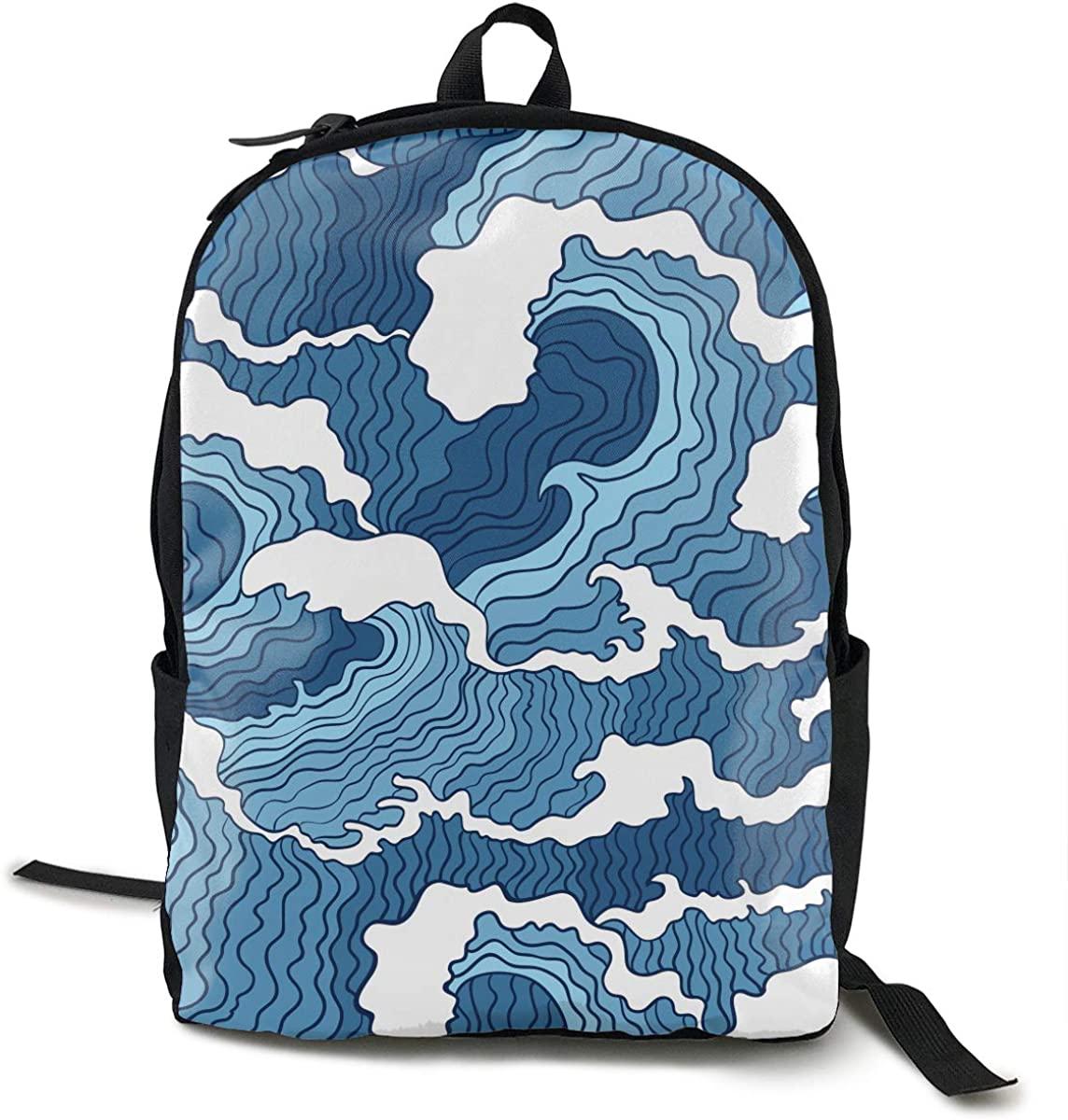 O-X_X-O Women Men Classic Polyester Backpack School Bag Travel Laptop Rucksack