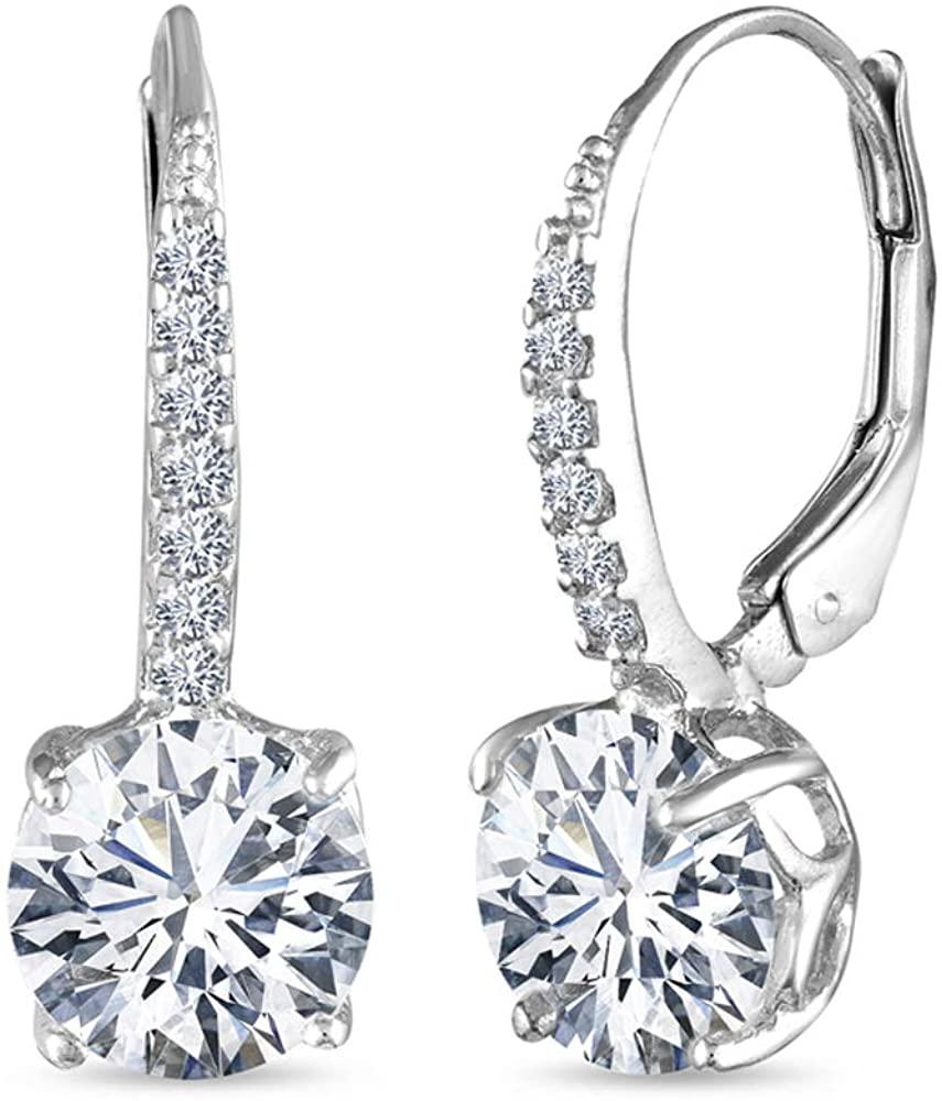 LeCalla Sterling Silver Jewelry Leverback Earring for Women