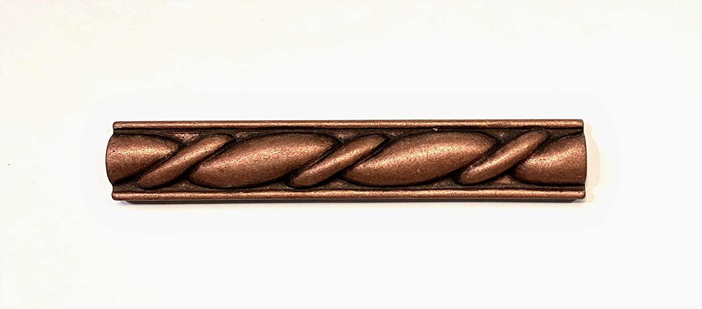 Squarefeet Depot 1x6 Roman Rope Victorian Bronze Metallic Resin Pencil Listello Trim for Backsplash Walls
