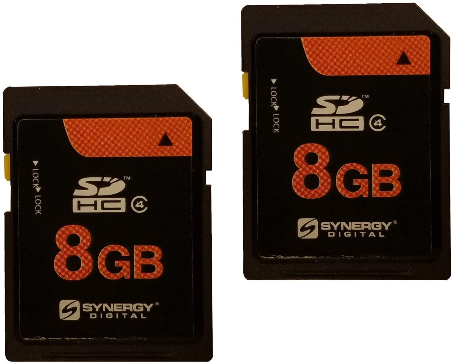 Konica KD-410Z Digital Camera Memory Card 2 x 8GB Secure Digital High Capacity (SDHC) Memory Cards (2 Pack)