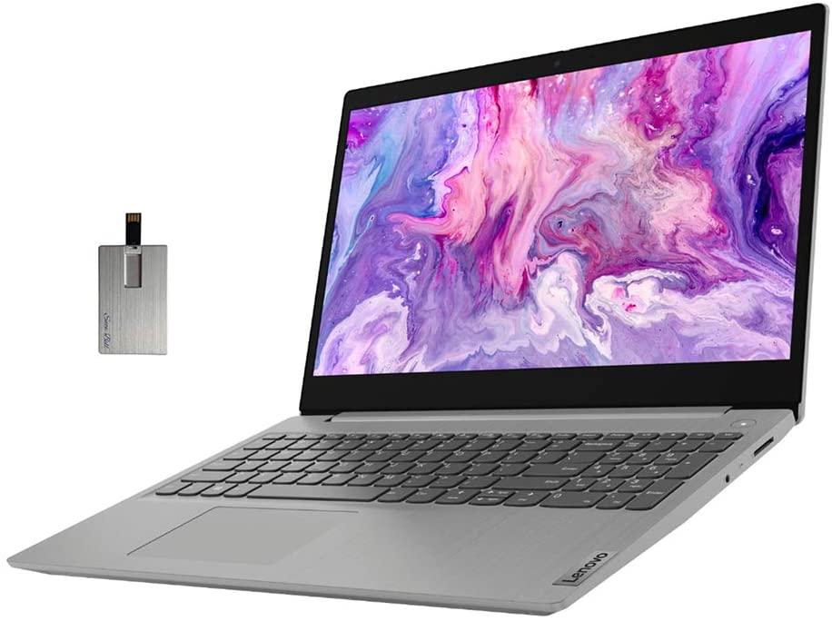 2020 Lenovo IdeaPad 3 15.6 FHD Laptop Computer, 10th Gen Intel Core i3-1005G1, 20GB RAM, 1TB PCIe SSD, Intel UHD Graphics, Dolby Audio, HD Webcam, HDMI, Windows 10S, Grey, 32GB SnowBell USB Card
