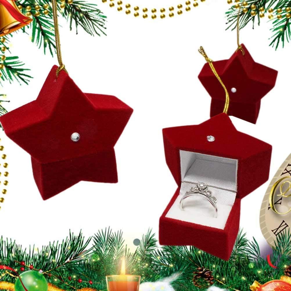 TOYANDONA 3pcs Jewelry Box Small Chritmas Jewelry Box Xmas Gift Box Necklace Box Earrings Storage Case for Storage Packaging
