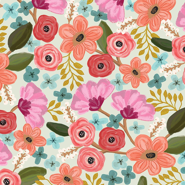 Jillson & Roberts Bulk Gift Wrapping Paper, Gypsy Floral, 1/4 Ream 208 x 24