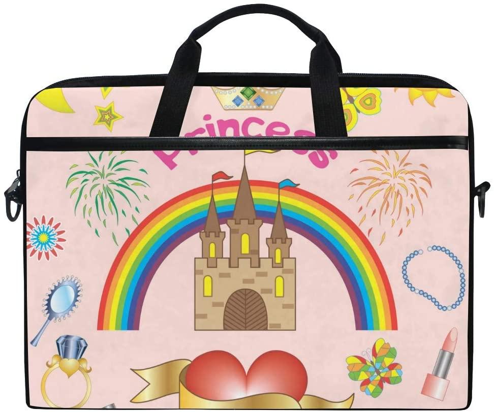 Laptop Bag Briefcase Princess Shoulder Messenger Tablet Bag Business Carrying Handbag Working Computer Bag Fit 15-15.4 inch MacBook