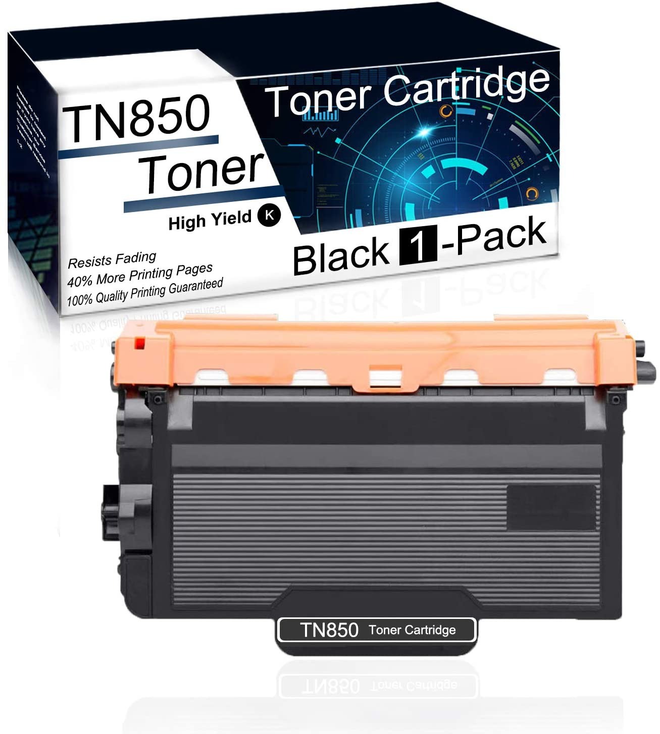(1Pk,Black) Compatible TN850 Toner Cartridge Used for Brother HL-L5000D HL-L5100DN HL-L6300DW DCP-L5500DN DCP-L5650DN DCP-L5600DN MFC-L6700DW MFC-L6750DW MFC-L5800DW Printer Toner Cartridge.
