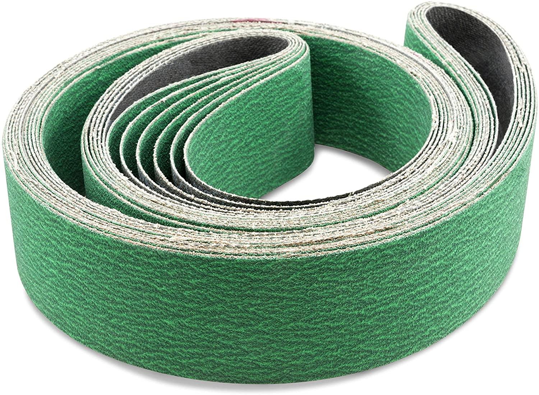 Red Label Abrasives 3 X 18 Inch 80 Grit Metal Grinding Zirconia Sanding Belts, 4 Pack