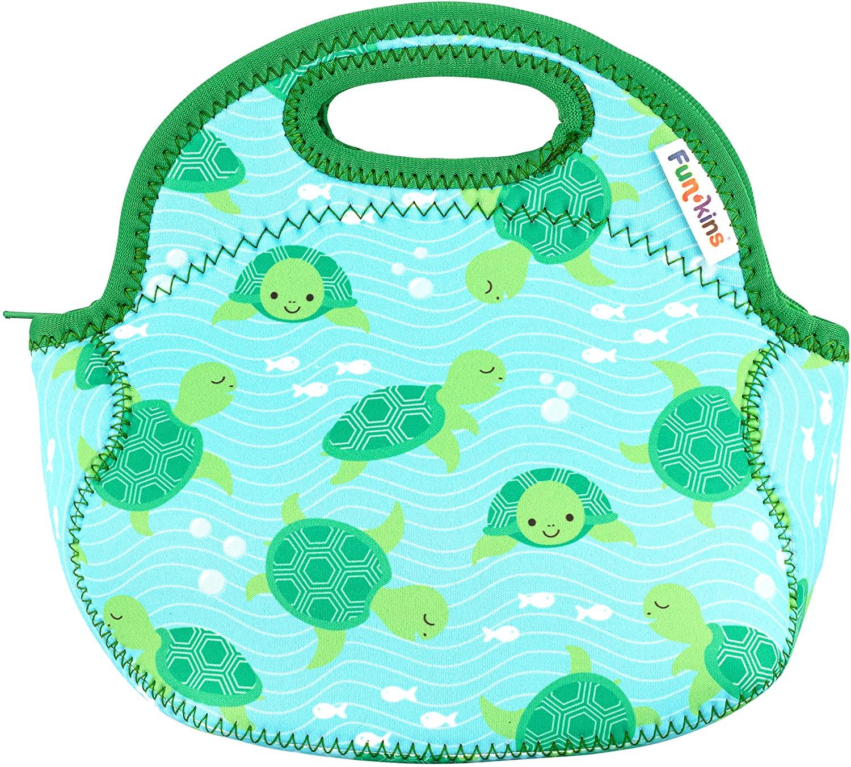 Fun Kins Small Lunch Bag for Kids - Sea Turtles