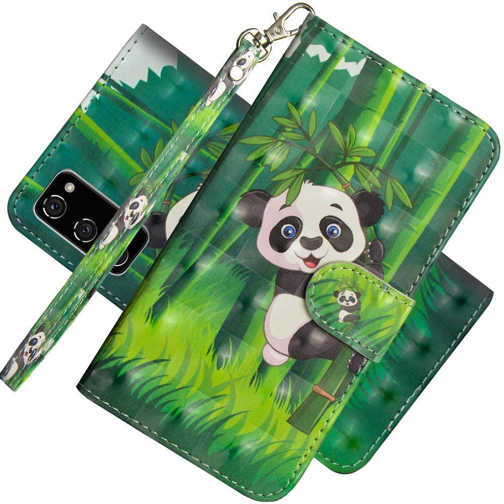 EMAXELER Samsung Galaxy S20 FE 5G Case 3D Full Stylish PU Leather Shockproof Flip Wallet Bookstyle Case with Kickstand Credit Cards Slot for Galaxy S20 Lite/Galaxy S20 FE 5G YX 3D: Panda