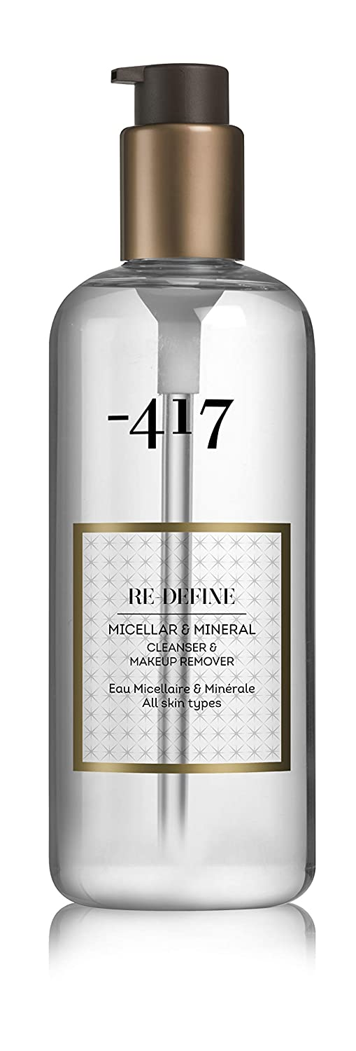 -417 Dead Sea Cosmetics Micellar & Mineral Cleanser & Make Up Remover - Powerful & Gently All in 1 Cleanser Perfect for Makeup Removal - with Aloe Vera & Green Tea - 11.8 oz Re define Collection