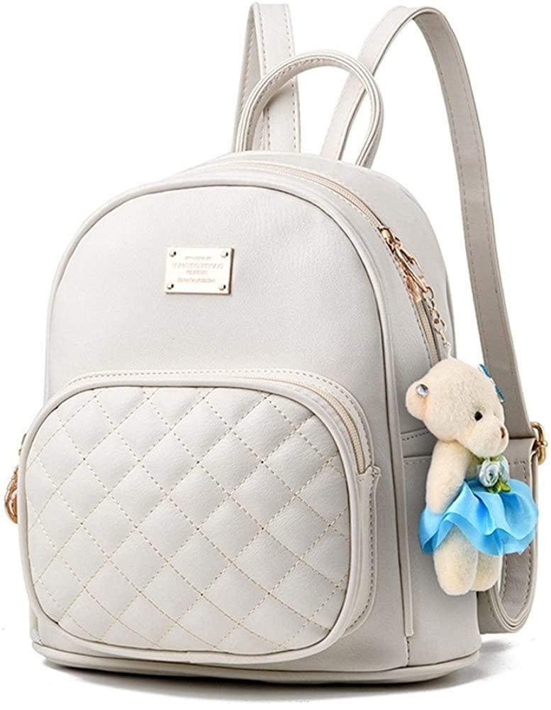 Fayland Women Teens Girls Casual Small Fashion PU Leather Backpack Purse