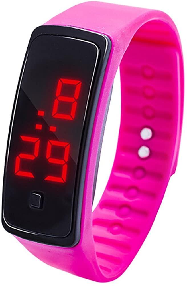 Yeyamei Women's Watche,Luxury Casual LED Digital Display Sports Wristwatches Chronograph Bracelet Watch for Boys Girls