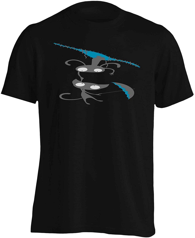 INNOGLEN Monsters Couple and Umbrella Men's T-Shirt Tee ee330m