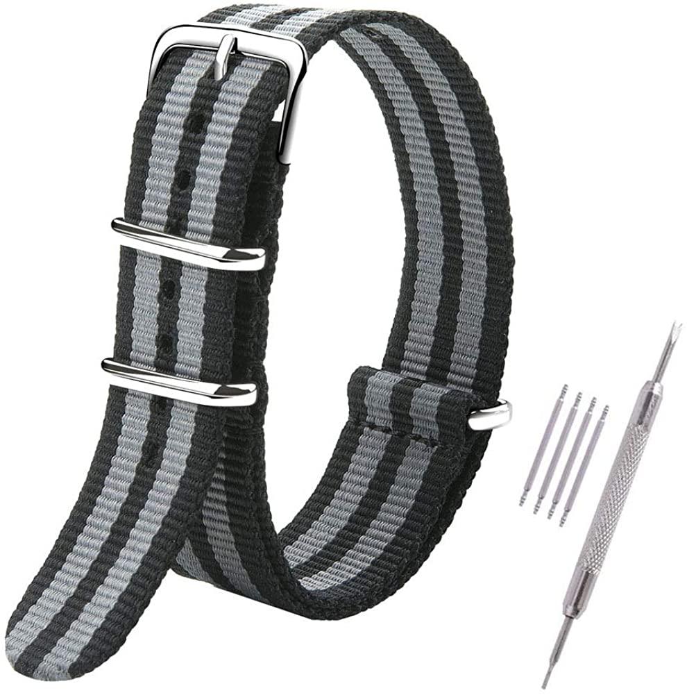 Premium Watch Bands Nylon Straps for Men Women Width 18mm,20mm,22mm