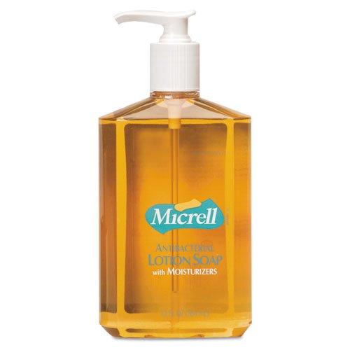 Gojo 9759 Antibacterial Lotion Soap, 12oz, Pump Bottle, Light Scent