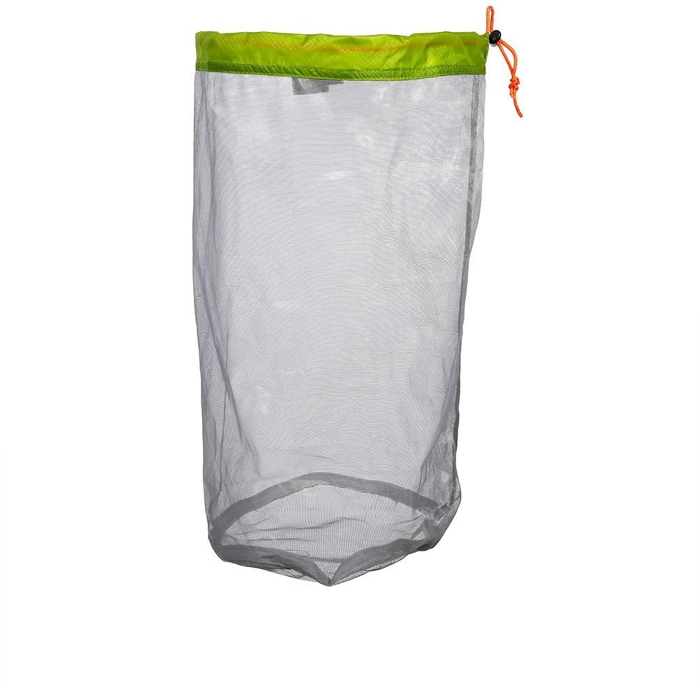 Eastbuy Mesh Storage Bag - Mesh Drawstring Sack Outdoor Travel Hiking Camping Stuff Storage Bag(L)