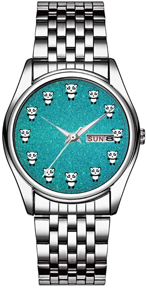 Top Brand Luxury Men's Watch 30m Waterproof Date Clock Male Sports Watches Men Quartz Casual Wrist Watch Cute Panda Turquoise Glitter Wrist Watches