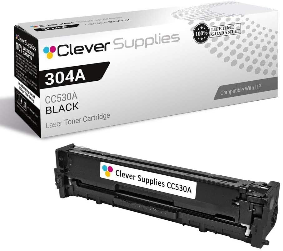 CS Compatible Toner Cartridge Replacement for HP CM2320N CC530A Black HP 304A Color Laserjet CM2320 CM2320N CM2320NF CM2320FXI CP2025 CP2025N CP2025DN CP2025X CP2020 CM2320MFP CP2026