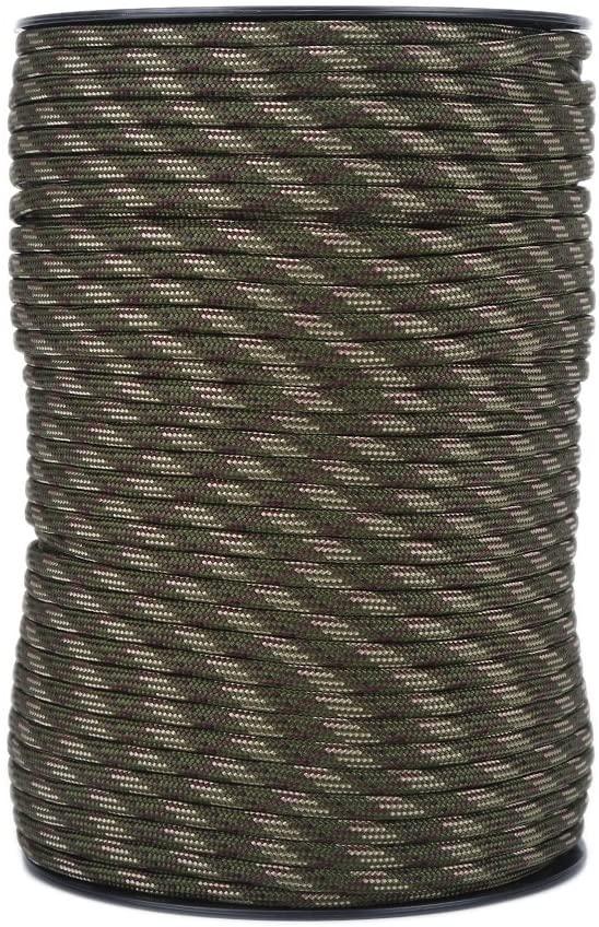 Diyeeni 100m 550lb Reflective Parachute Cord, Nylon Spools Military Grade Multi Purpose Cord for Camping Crafting Hiking or Wrapping Hatchets Knives